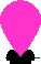 Pink Flat Map Marker