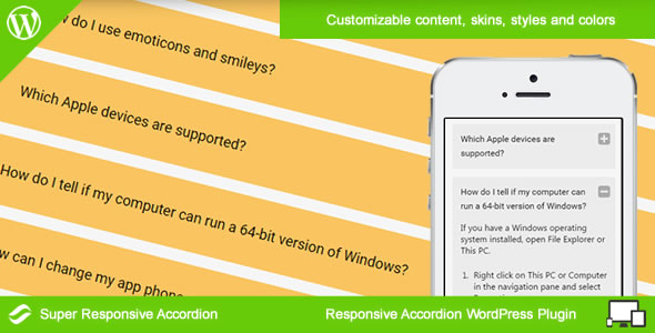 Super Responsive Accordion for WordPress